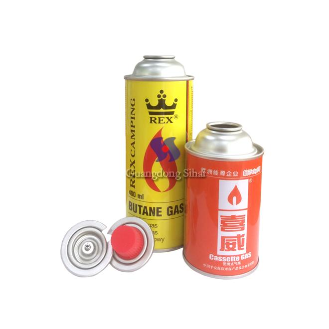 empty butane gas can