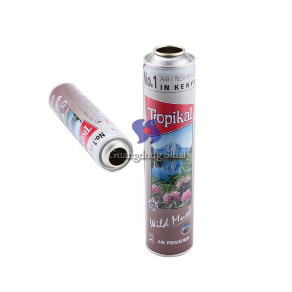 air freshener empty metal aerosol can