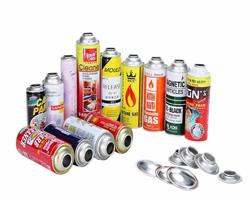 various sizes aerosol tin can