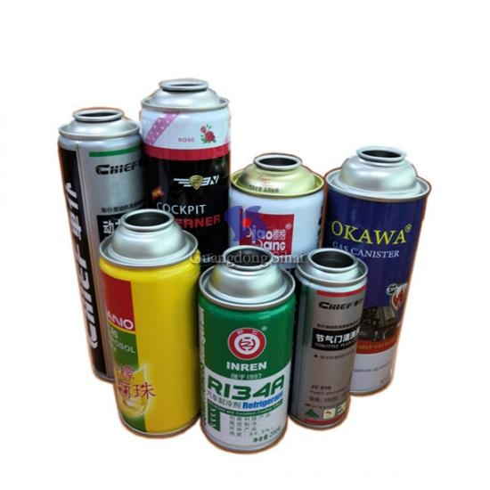 4 colours printing aerosol tin can