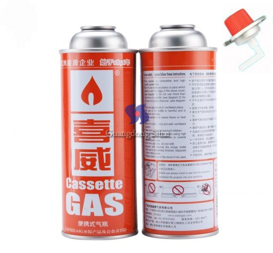 butane gas can