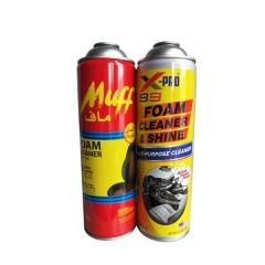 foam cleaner aerosol tin can