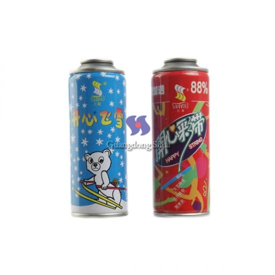 Snow Spray Aerosol Tinplate Cans
